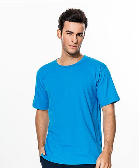 蓝色广告衫定制