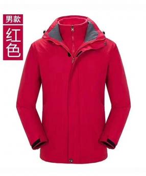 女款红色冲锋衣定制